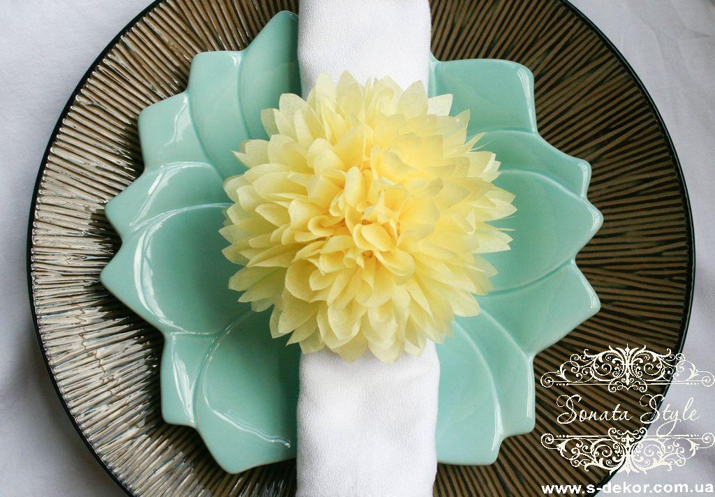 Цветы из салфеток картинки 6